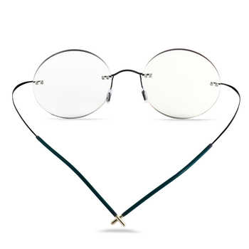Photochromism Reading Glasses Men Titanium Frameless glasses Frame Women Ultralight Round Korean Glasses 1.0 1.5 2.0 2.5 3.0