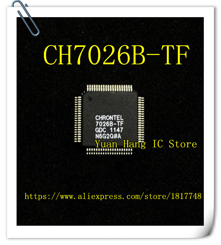 5PCS/LOT CH7026B-TF 7026B-TF QFP-80 Video Converter Chip