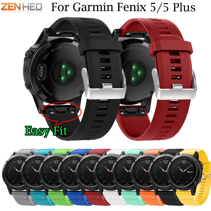 Band-Strap Replacement Garmin Fenix Quick-Release Colourful 22mm 5/5-Plus Watch Silicagel