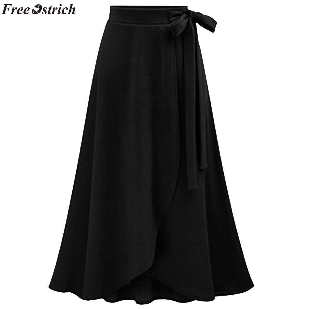 44648df127 FREE OSTRICH Women High Waist Irregular Split Skirts Large Size Female  Fashion Long Straps harajuku Summer