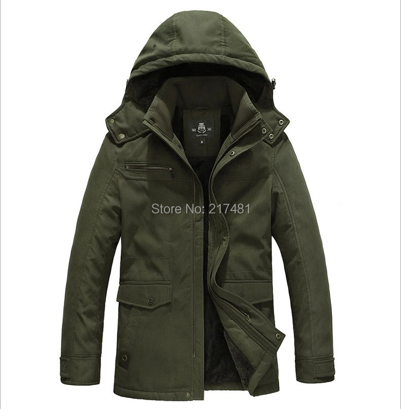 2014 New Winter Men's coat,army jacket, Outdoor Military Jacket Windproof Thermal,Men's Thick Warm Man Cotton Coat - Maris Ms's store