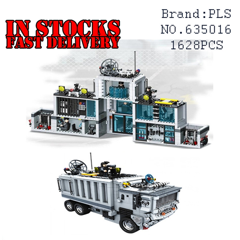 NEW 635016 1628Pcs Military Weapon 2 IN 1 Mobile Command Building Blocks Bricks educational Toys for Children Gifts brinquedos 8 in 1 military ship building blocks toys for boys