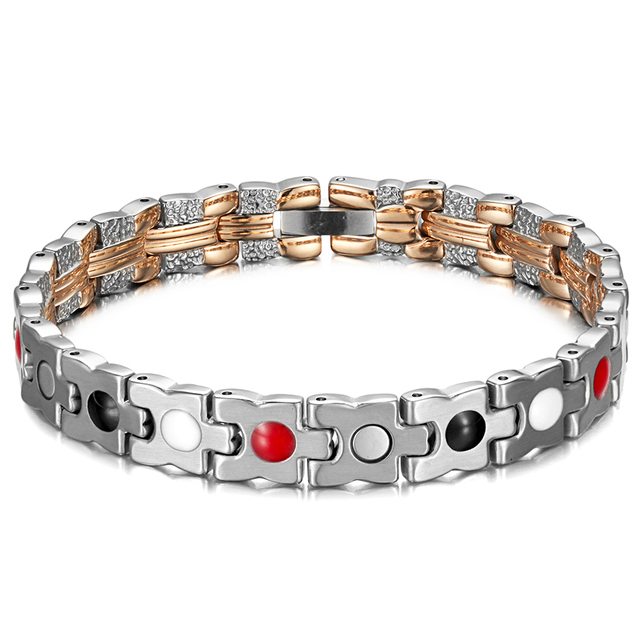 Trendy Healing Magnetic Bracelet for Lady with 4 Health Care Elements