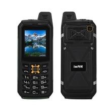 Иман S2 пыле-водонепроницаемый ударопрочный мобильный телефон IP68 6531CA 64 м + 64 м 2MP камера Фонарик Power Bank 2200 мАч телефона