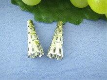 Дорин коробка Прекрасный 100 шт. серебристый цвет ногтей прокладки шарики 23*9 мм (B00345)