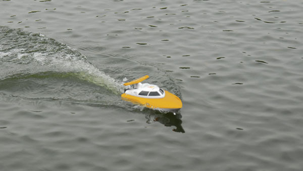 hot sale FT007 4CH 2.4G Yellow High Speed Racing RC Boat with high quality