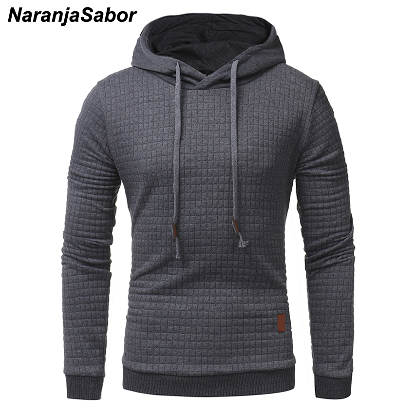 NaranjaSabor Spring Autumn New Men's Hoodies Long Sleeve Solid Color Hooded Sweatshirt Male Tracksuits Men Casual Sportswear 5XL