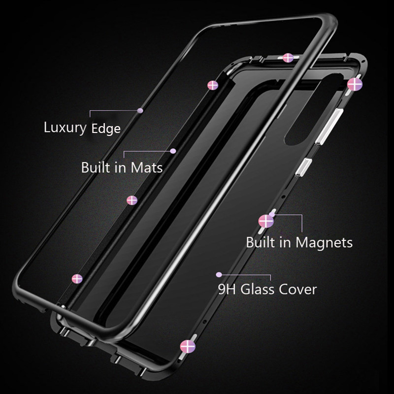 For Samsung S10 Plus Case Magnetic Adsorption Flip Metal Tempered Glass Cover Case For Samsung Galaxy S10 S10e S10plus Case Capa (11)