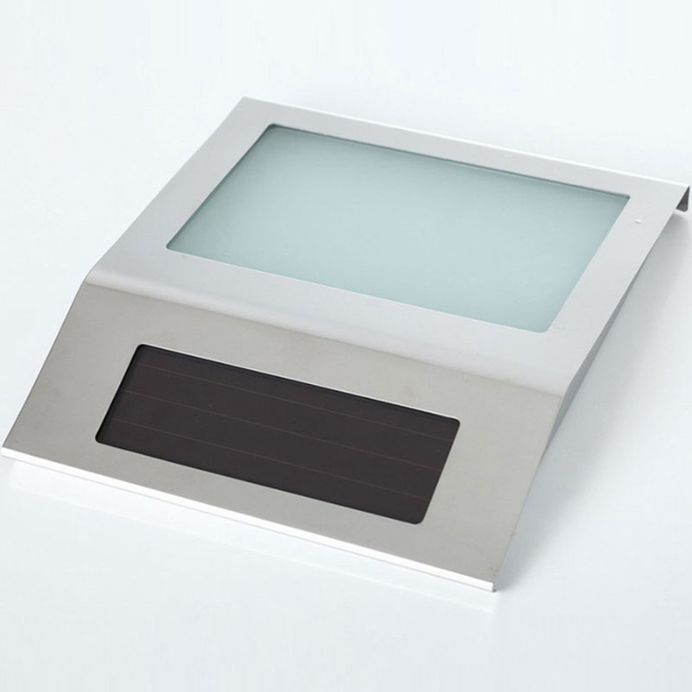 2 LED Solar Address Sign House Number Stainless Steel