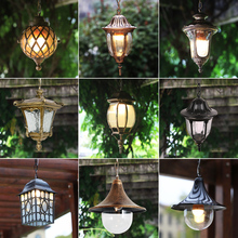 Boda al aire libre de luz colgante jardín pasillo corredor suspensión luminaria impermeable vintage industrial decoración hanglamp