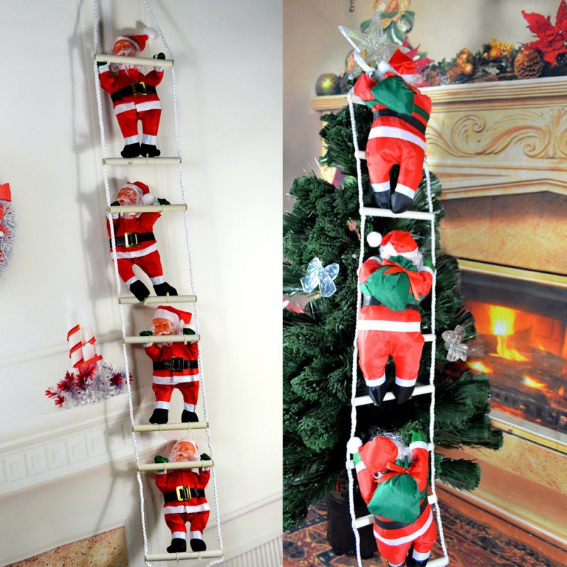 2018 christmas christmas pendant ladder christmas santa claus doll tree new year decorations drop ornaments - Christmas Tree Ladder Decoration
