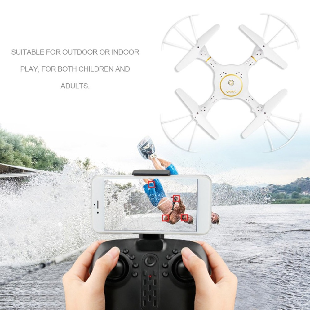 2.4G RC Drone 4-Axis Quadcopter with LED 720P Wifi Camera Real Time Transmission Altitude Hold Headless Mode Helicopter jjrc h50wh 4 axis rc racing drone quadcopter uav altitude hold headless mode 720p wifi fpv camera real time transmission f20673
