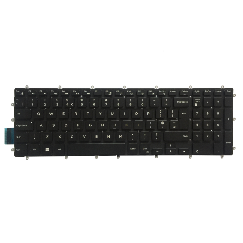 New for Dell Inspiron 5570 5575 UK Keyboard Palmrest Upper COVER with backlit