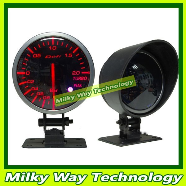 DEFI DF 60mm BOOST GAUGE Tachometer with LCD, car meter Oil Pressure Meter, Red and White Light# LX06041
