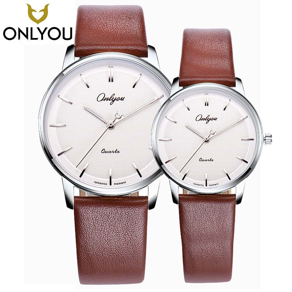ONLYOU Lovers Watches Top Brand Luxury Fashion Watch Men Ultra Thin Quartz Clock Best Gift For Women Dress Wristwatch Wholesale onlyou women top brand luxury crystal diamond watches ladies fashion casual clock woman rose gold quartz gift watch wholesale