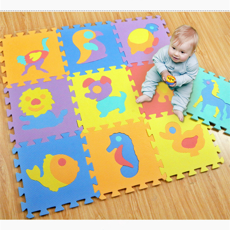 10pcs/set Baby Toys Play Mat Puzzle Mats Playing Carpet Children's Developing Crawling Rugs Babies Puzzle Four Styles Kids Gifts