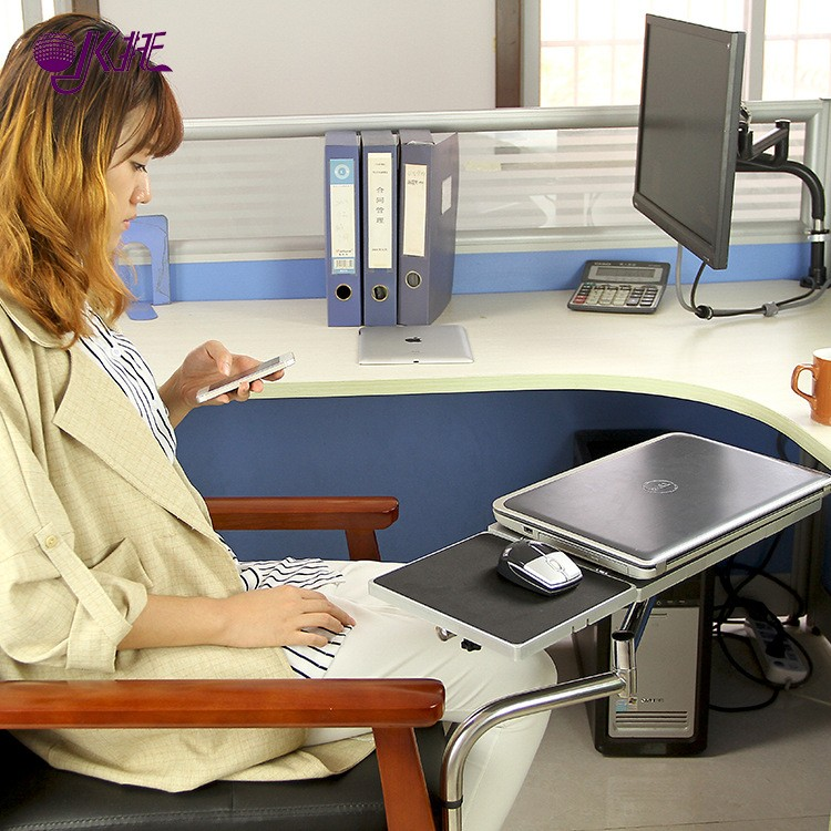 ФОТО Multifunctoinal Full Motion Desk Edge /Table Side /Chair Leg Clamping Mouse Pad /Keyboard Tray Holder Laptop Desk Notebook Stand