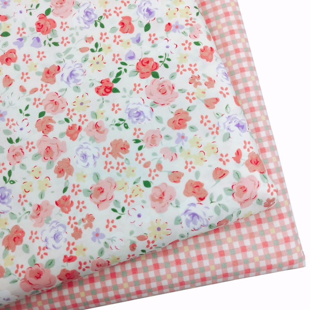7PCS QUILTING FABRIC FLORAL COTTON CLOTH DIY CRAFT SEWING HANDMADE ACCESSORY FIL