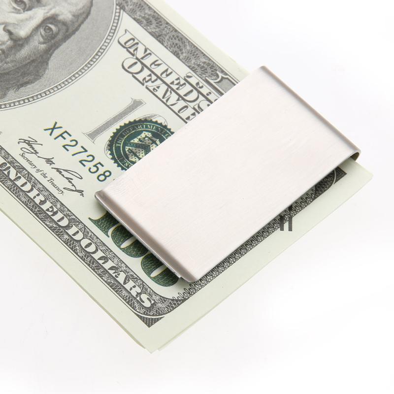 Stainless Steel Metal Craft Money Clips Hollow Out Men Women Money Clip Wallet Metal Credit Card Money Holder Bill Steel Clip
