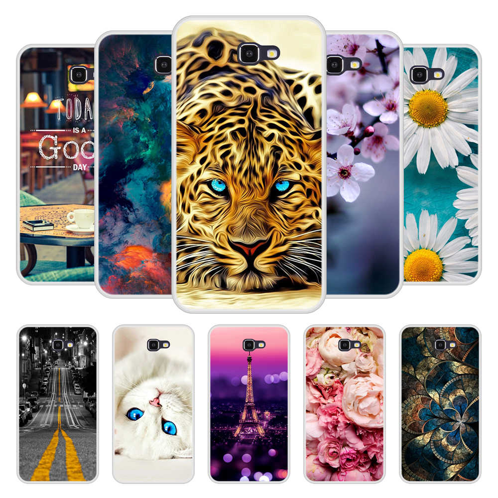 Phone Case for Samsung Galaxy J7 prime Soft Silicone TPU Cute Patterned Paint for Samsung J7 prime Case