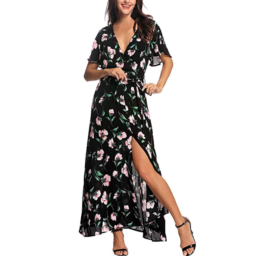 Passende Familienoutfits Ordentlich 2019 Ppxx Rose Floral Mädchen Frauen Kleid Kleid Mutter Tochter Kleider Hochzeit Party Strand Familie Passenden Outfits Familie Aussehen
