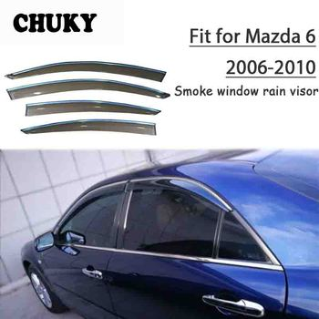 Chuky 4pcs ABS Car Styling Window Visors Awnings Shelters Rain Shield For Mazda6 2006 2007 2008 2009 2010 Auto Accessories
