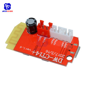 Image 3 - Плата цифрового усилителя звука diymore DC 3,7 в 5 в 3 Вт, двойная плата, Bluetooth динамик, модификация звукового музыкального модуля Micro USB