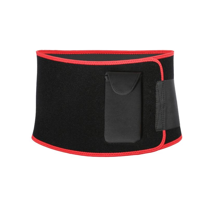 Nowy czarny pas wyszczuplający przenośna torba na telefon sport joga fitness pas biodrowy wsparcie pleców super nylon hasp fajas neopreno cinto