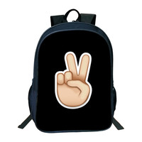 2018 New Fashion Backpack Women Funny Emoji Face Printing Cool Backpacks For Teenage Girls School Back