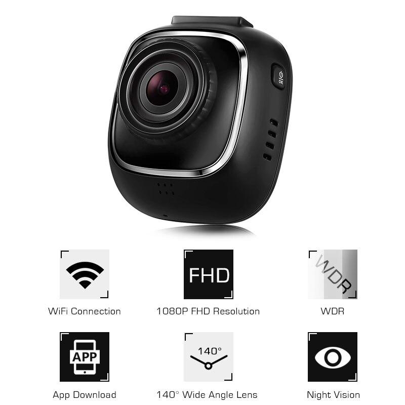 E2 Hidden Dash Cam NT96658 Camera WiFi WDR 1080P 30fps Car Detector 140 Degree Car DVR Night Vision WDR Auto Driving Recorder