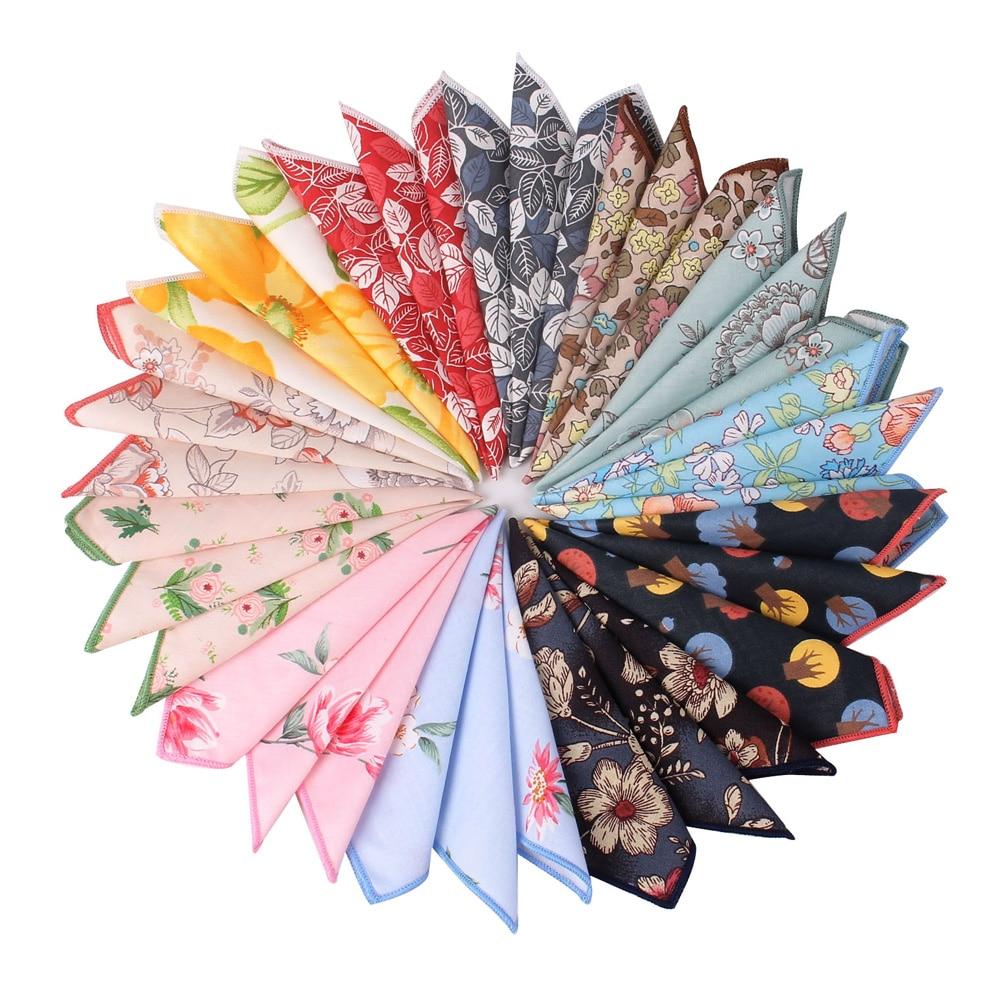 Suits Pocket Square For Men Women Cartoon Chest Towel Hanky Gentlemen Hankies Classic Men's Handkerchief Floral Pocket Towel