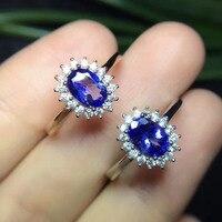 2017 ювелирные изделия QI Xuan_Fashion Jewelry_Blue каменный цветок Rings_S925 одноцветное женщина Серебряный Синий Камень Rings_Factory непосредственно продаж