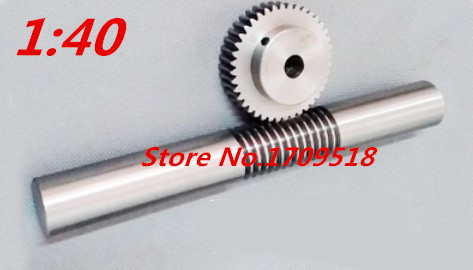 1 sets 1M40t 40 teeth worm gear reduction ratio:1:40 rod length 140mm