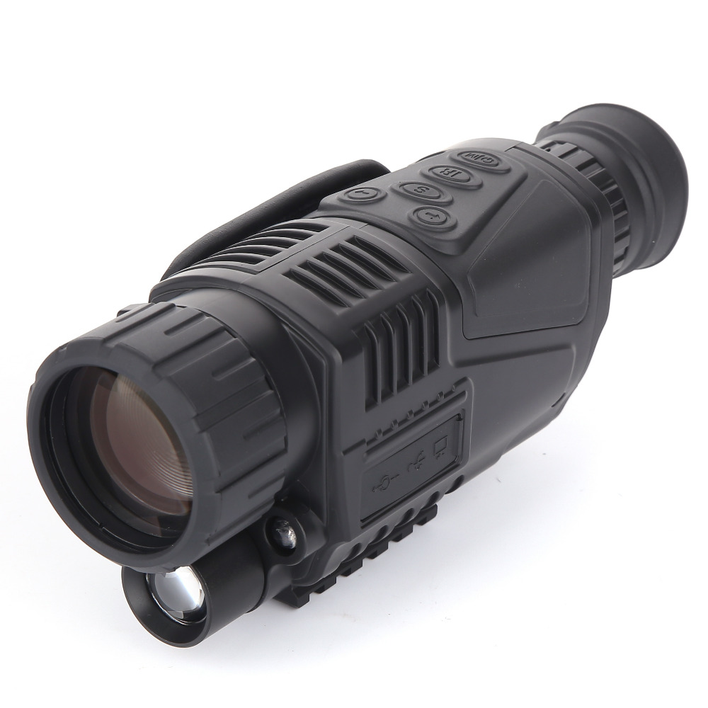 HOT CCD Infrared digital Night vision monocular scope 5x40 for 200Meter 5X Zoom 5MP digital night vision camera video in CCD! boblov 5x40 digital infrared night vision goggle monocular 200m range video dvr imagers for hunting camera device free 8gb card