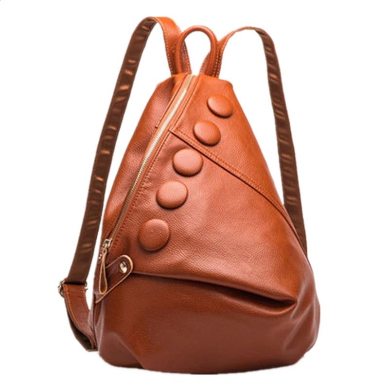 luxury women bags designer Genuine leather travel backpack fashion shoulder bag mochila school bags Spanish brand