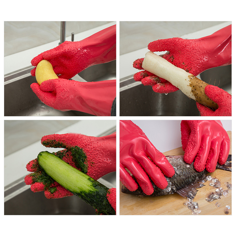 DIY Household Glove Home Peeled Potato Cleaning Gloves Creative Kitchen Peeling Fruits Prevent allergies