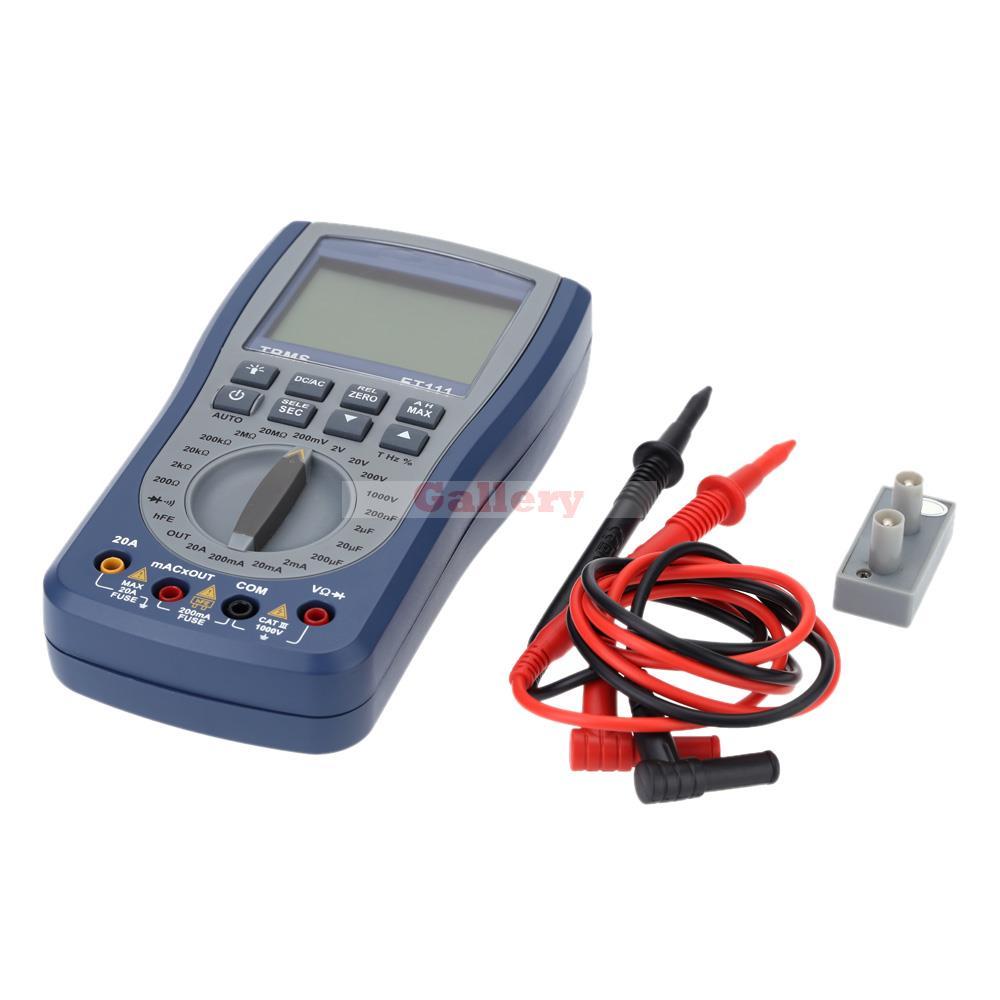 ET111 Handheld LCD Digital Multimeter DC AC Voltmeter Resistance Diode Tester with Test Lead Triode Testing Attachment  цены