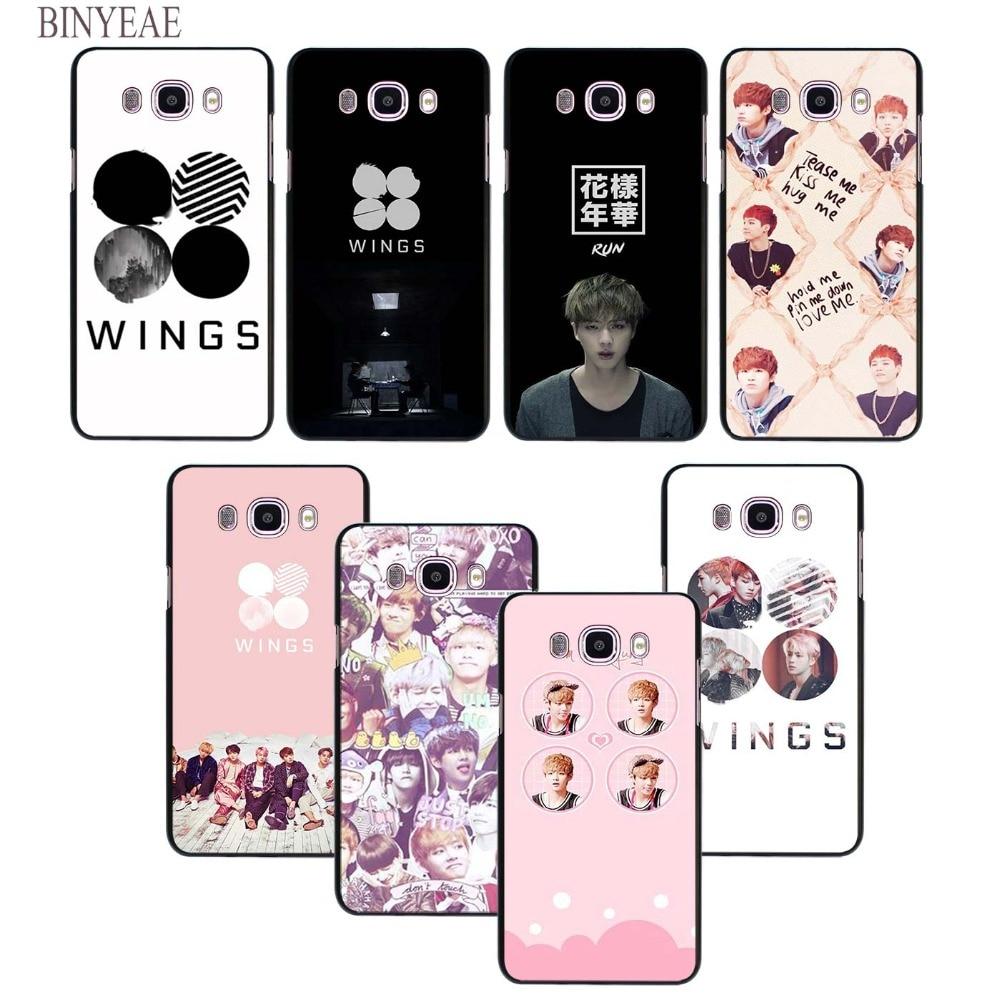 BINYEAE BTS Bangtan Wings album design hard black Case for Samsung Galaxy J1 J2 J3 J5 J7 2016 2017 Prime EU US