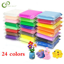 24 Colors Baby Care Air Drying Handprint Footprint Imprimt Kid Casting DIY Tool Soft Plasticine Toy Polymer Clay WYQ(China)