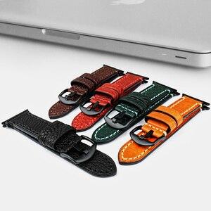 Image 3 - MAIKES Cinturino di Vigilanza del Cuoio Per Apple Watch Band 42mm 38mm/44mm 40mm serie 4/ 3/2/1 tutti i Modelli iWatch Braccialetto cinturino