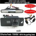 SONY CCD HD Беспроводная Заднего Вида Автомобиля Резервную Камеру с зеркало заднего вида монитор для AUDI A1 A4 (B8) A5 S5 Q5 TT/PASSAT 5D R36