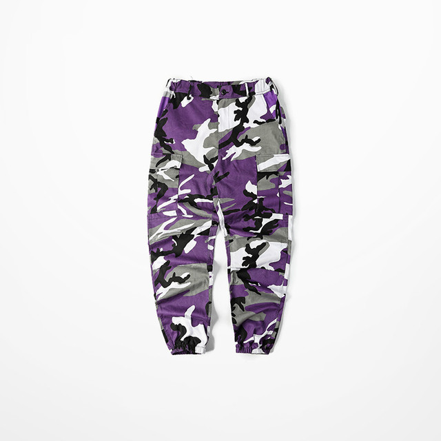 Lay Low Bib Overall Pants Ins Network With Bdu Pant High Street Military Camouflage Pants Hip Hop Skateboard Dance Pants Men