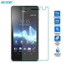 Tempered Glass Film for Sony Xperia V LT25i ZR SP Z Z1 Z2 Z3 Z4 Z5 Compact Premium Front LCD Screen Protector pelicula de vidro(China)