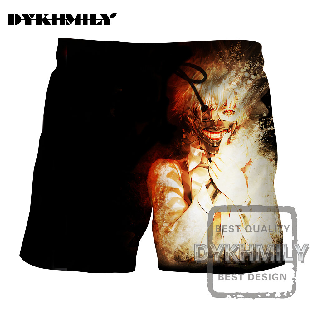 Men's Clothing Helpful Dykhmily 2017 Summer New Fashion Tokyo Ghoul Masks Silver Hair 3d Print Board Shorts Men Popular Soild Cool Short Pants Hip Hop