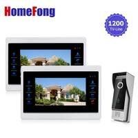 Homefong 10 inch TFT LCD Door Điện Thoại Hệ Thống Video Chuông Cửa với Máy Ảnh Có Dây Video 1200TVL 1V2 Home Căn Hộ Nhập Kit
