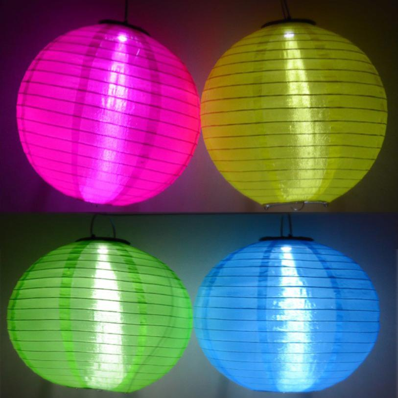 LED Multicolor Paper Lanterns Wedding Party Decor