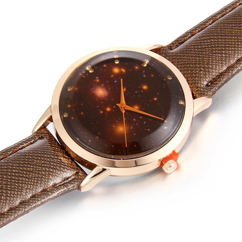 Watches New Arrive Fashion Watch Moon Photo Unisex Watch Women Men;s Watches Starry Sky Space Birthday Gift Relogio Masculino Clock