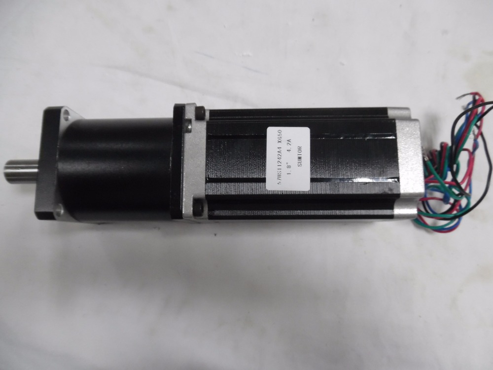 цена на NEMA23 Planetary Reducer Stepper Motor Ratio1:50 4.2A 3NM 429oz-in L 112mm Marking Machine