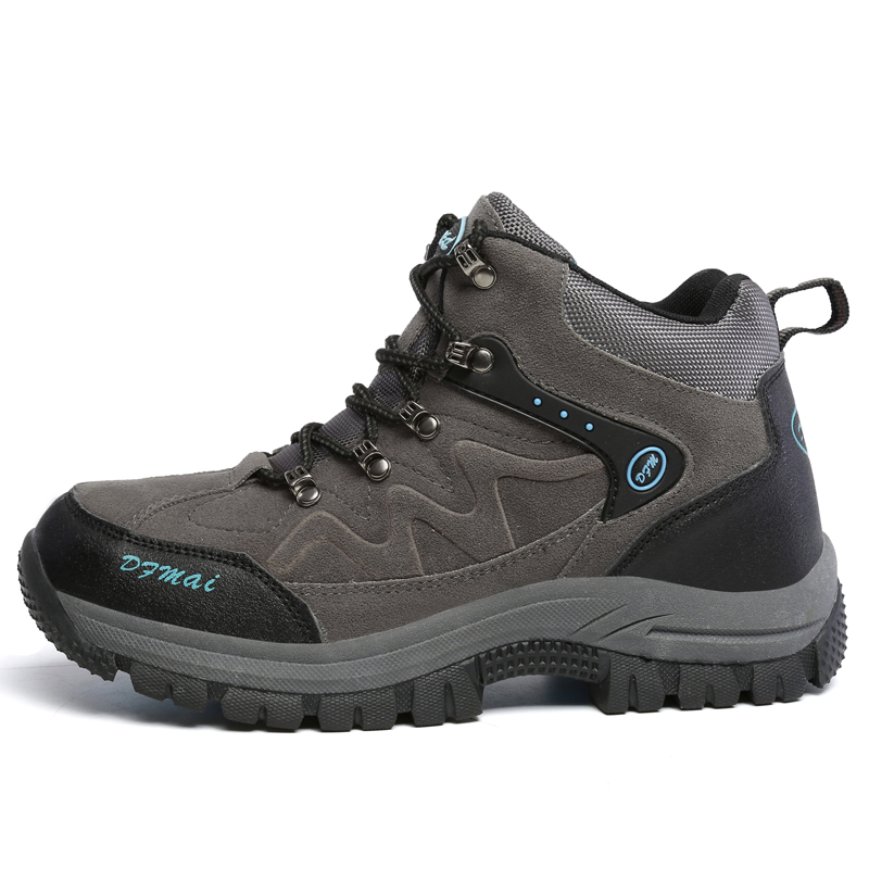 Big Size Men Hiking Shoes Breathable Men Outdoor Shoes Mountain Climbing Boots Luxury Brand Men Shoes Men Sport Shoes big size 46 men s winter sneakers plush ankle boots outdoor high top cotton boots hiking shoes men non slip work mountain shoes