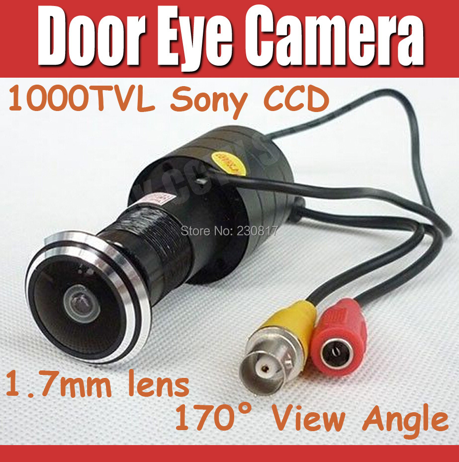 1000TVL Mini Door Eye Hole Camera Sony CCD Fisheye 1.7mm Wide Angle Lens Peephol